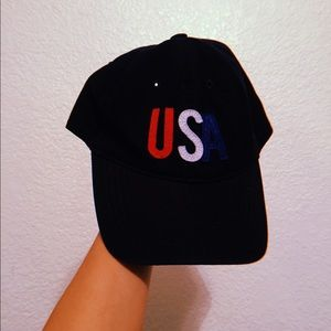Old Navy || navy blue hat with multicolored USA